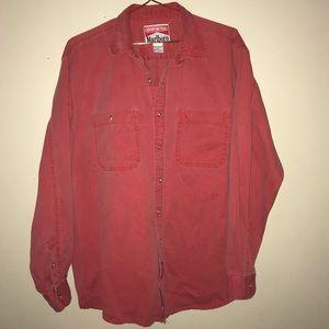 Vintage Marlboro Red Denim Button Up Shirt